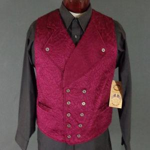 *Sold*   Wahmaker Burgundy Brocade Vest